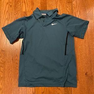 Nike Tennis Green Dri-Fit Polo Athletic Shirt - XL